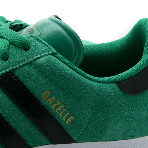 Mens Adidas Gazelle Green Suede Retro Trainers