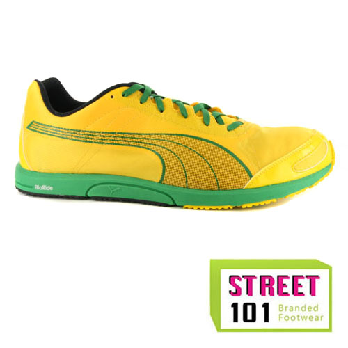 1f6450b718 Mens Puma Bolt FAAS 200 Jamaica Yellow Running Shoes Trainers | eBay