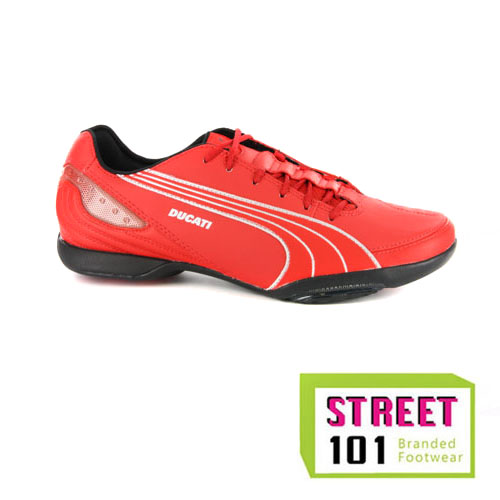 best service dbd8f a7340 Image is loading Mens-Puma-Ducati-Motorazzo-Street-Racer-Red-Leather-