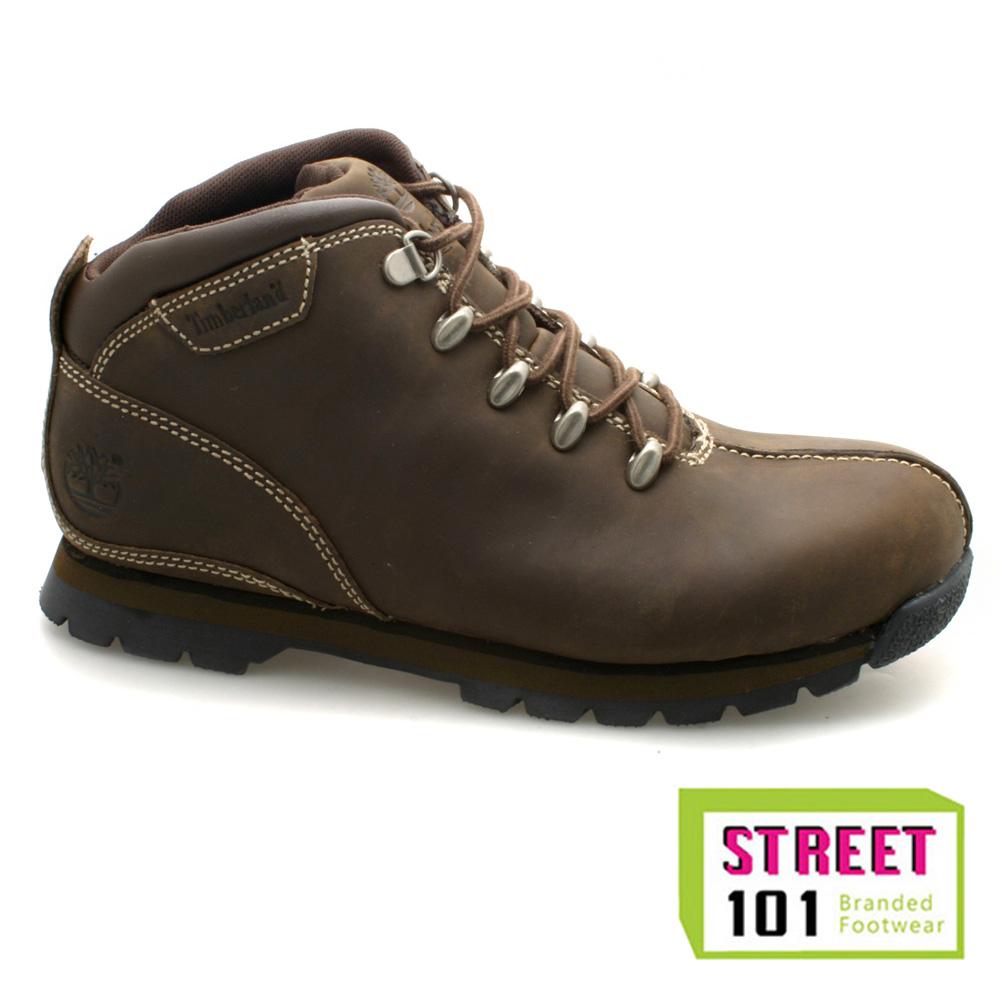 boys timberland junior splitrock brown nubuck boots ebay