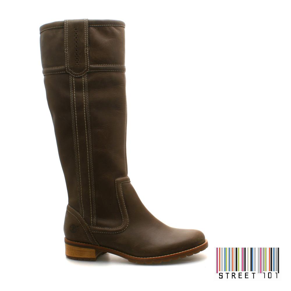 womens timberland brogue pull on stylish brown boots ebay