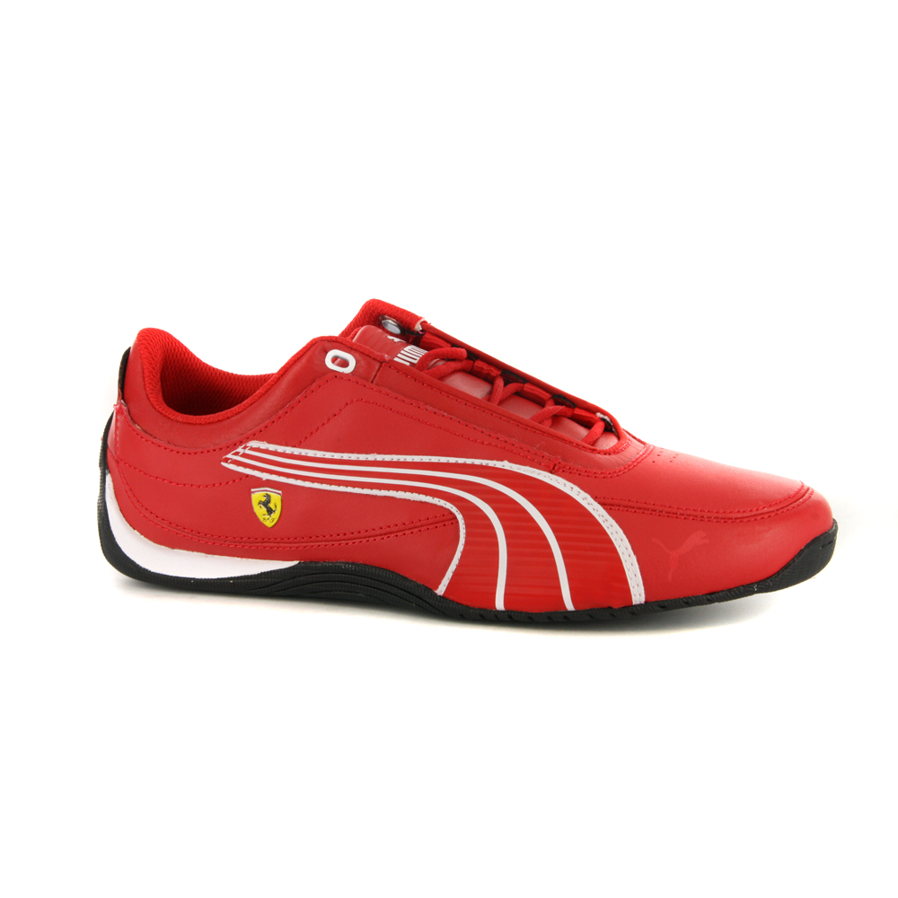 Boys-Puma-Drift-Cat-4-L-Ferrari-Red-Trainers