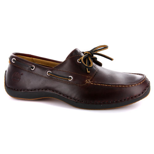 Item Details - Mens Timberland Annapolis Brown Leather Boat Shoes