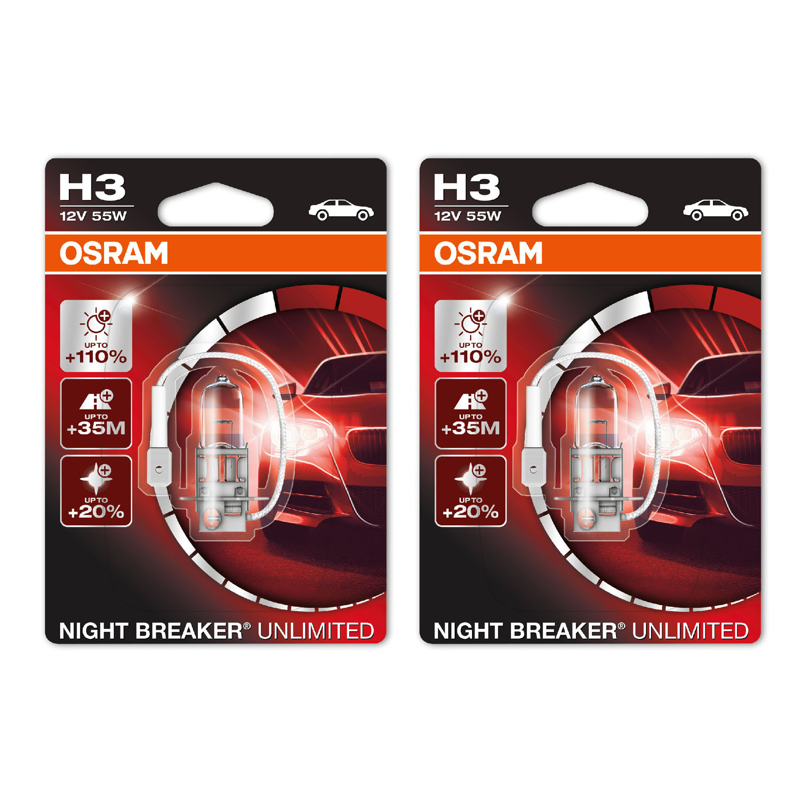 2x proton satria genuine osram night breaker unlimited low beam headlight bulbs. Black Bedroom Furniture Sets. Home Design Ideas