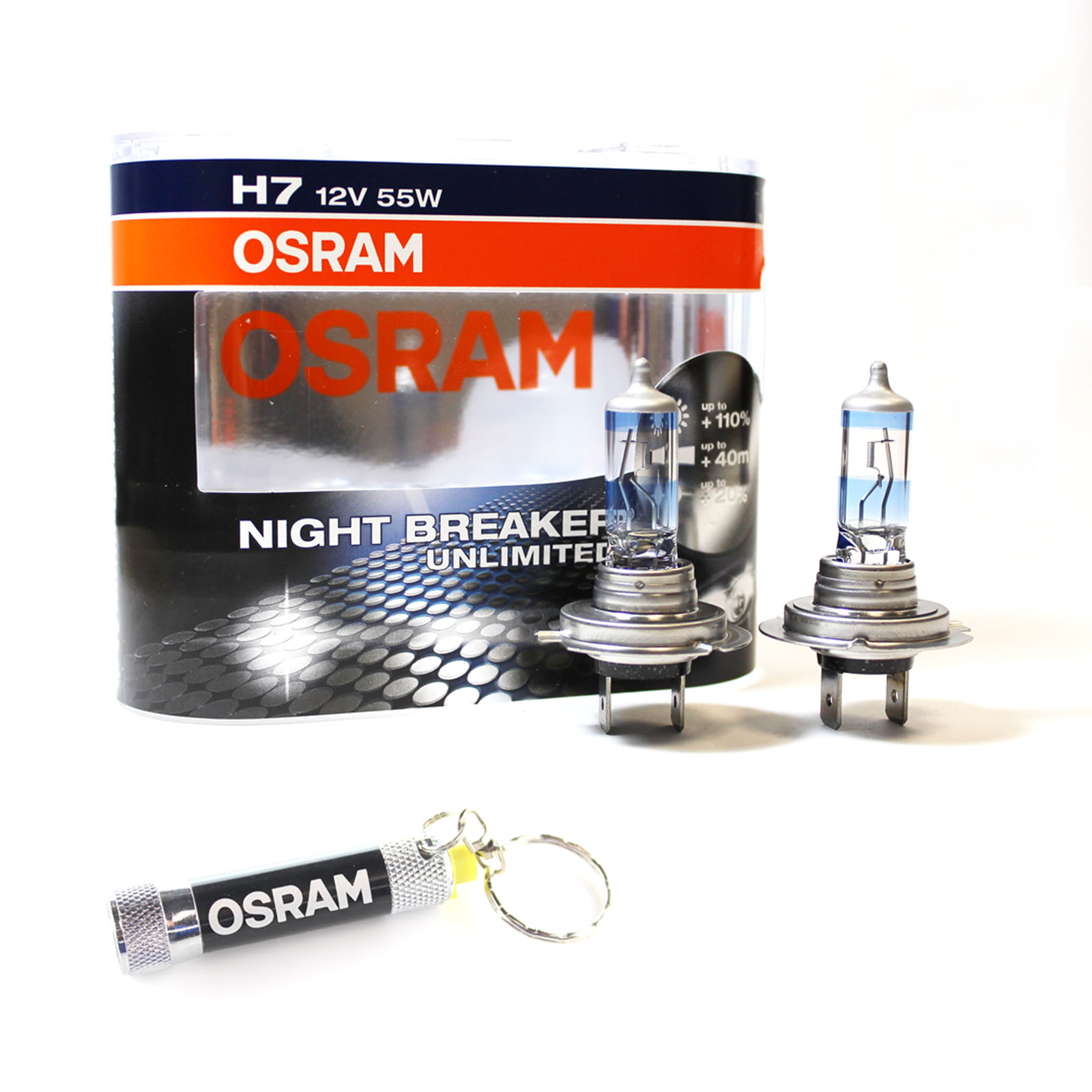 2x osram h7 night breaker unlimited xenon headlight bulbs. Black Bedroom Furniture Sets. Home Design Ideas