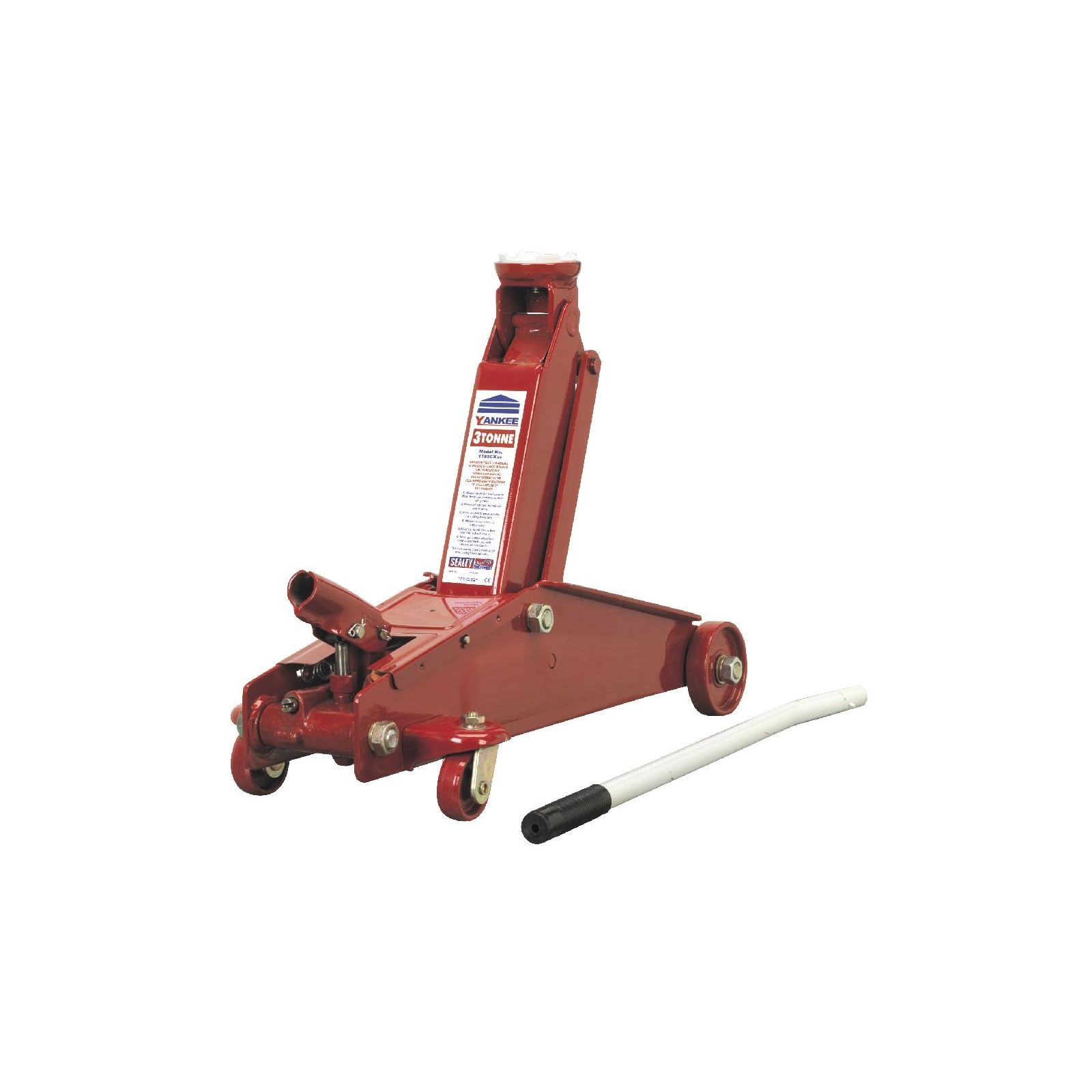 Heavy Duty Hydraulic Lifts : Sealey trolley jack tonne long chassis high capacity