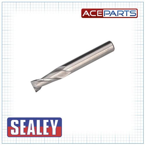 Sealey Hss End Mill Ø8mm 2 Flute Mini Drilling & Milling Machine Accessories