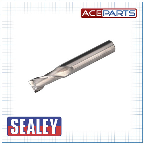 Sealey Hss End Mill Ø12mm 2 Flute Mini Drilling & Milling Machine Accessories