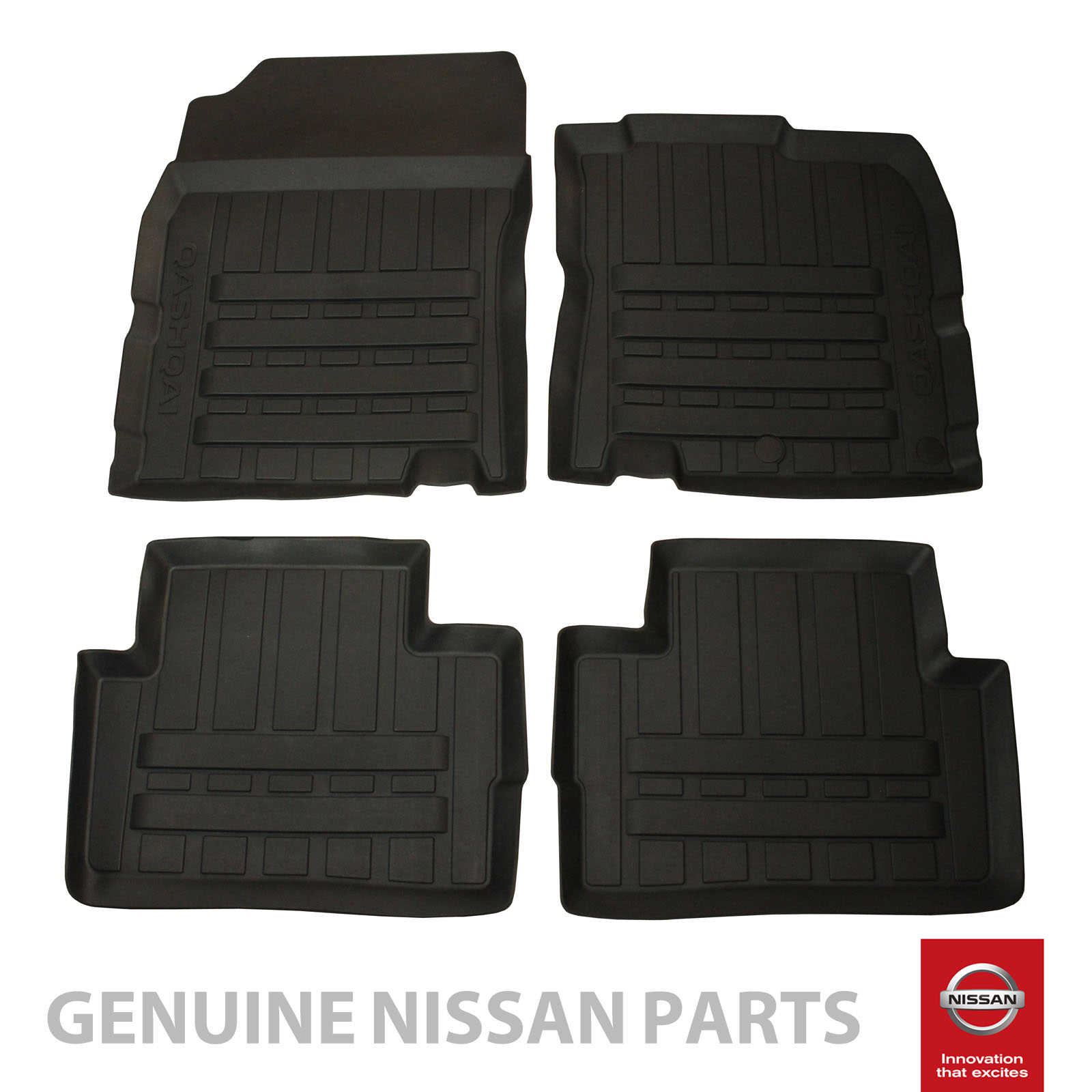 Floor mats qashqai - Fits Nissan Qashqai Tailored Rubber Front Rear Car Floor Mats Set Ke7584e289