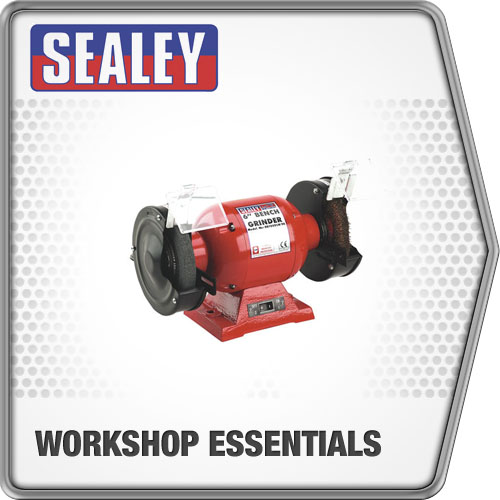Sealey Bench Grinder 150mm & Wire Wheel 370W/230V Grinder Power Tool Equipment
