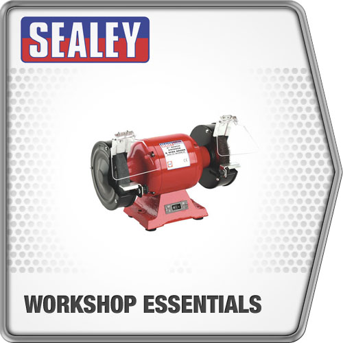 Sealey Bench Grinder 150mm & Wire Wheel 450W/230V Heavy Duty Power Equipment