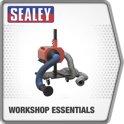 Sealey Exhaust Fume Extractor with 6Mtr Ducting Exhaust Fume Extractor EFS/93