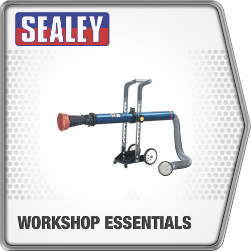 Sealey Exhaust Fume Extractor with 3Mtr Ducting Exhaust Fume Extractor EFS07
