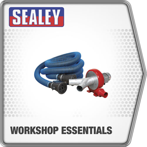 Sealey Exhaust Fume Extraction System 230V - 370W - Twin Duct Fume Extractor