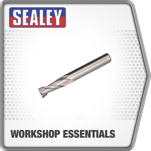Sealey Hss End Mill Ø8mm 2 Flute Mini Drilling & Milling Machine Accessories