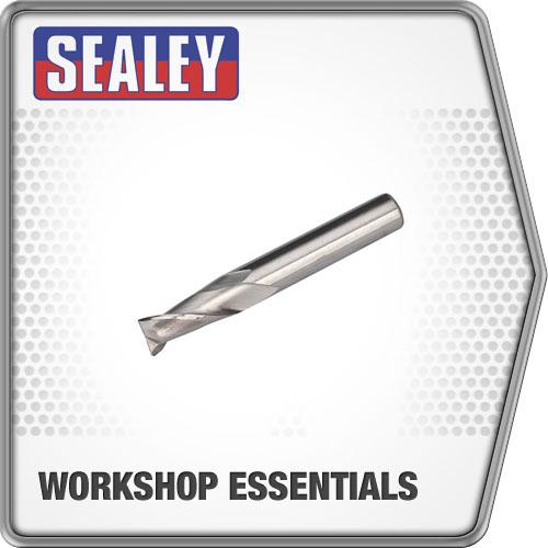 Sealey Hss End Mill Ø10mm 2 Flute Mini Drilling & Milling Machine Accessories