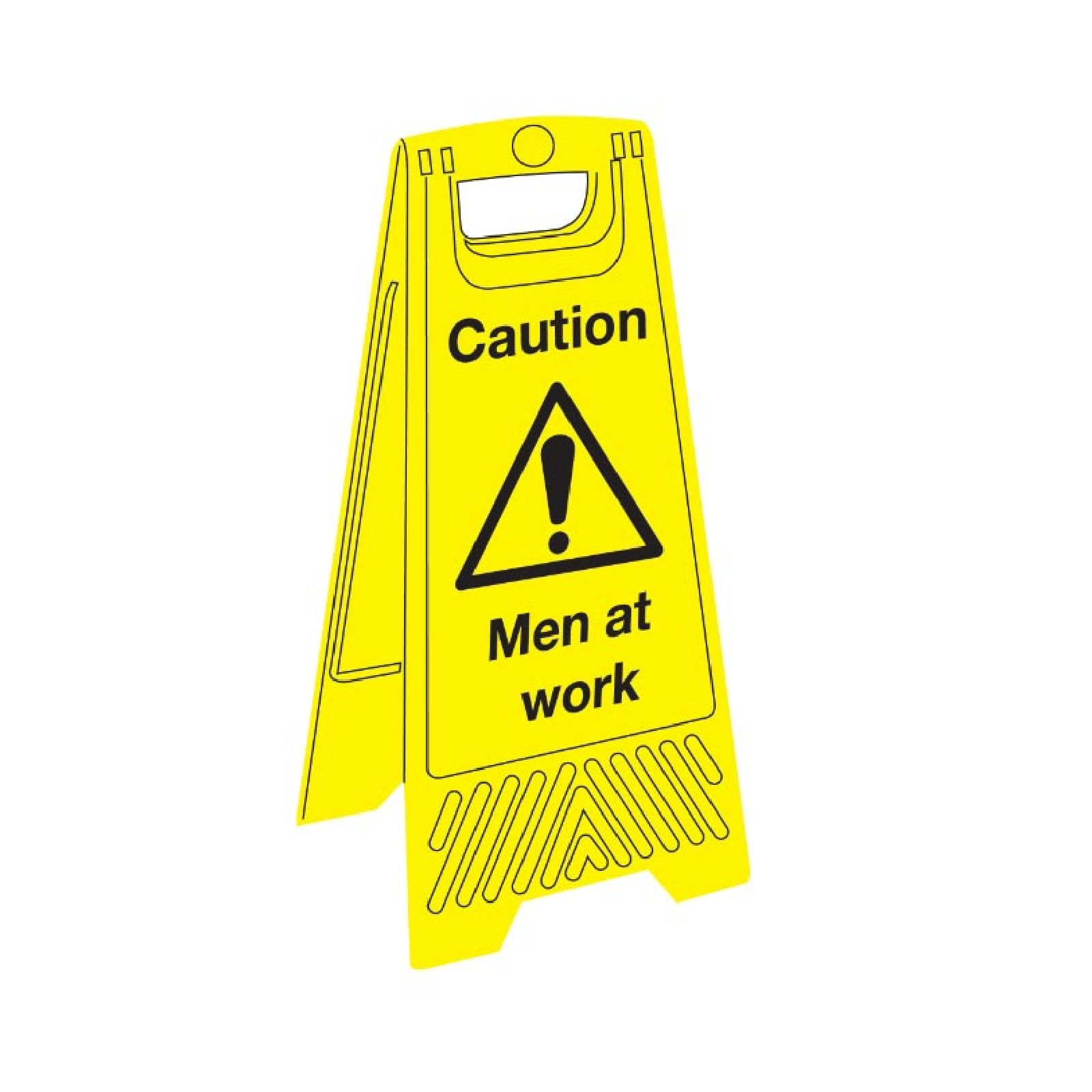 Signs labels janitorial floor sign caution men at work for Floor labels