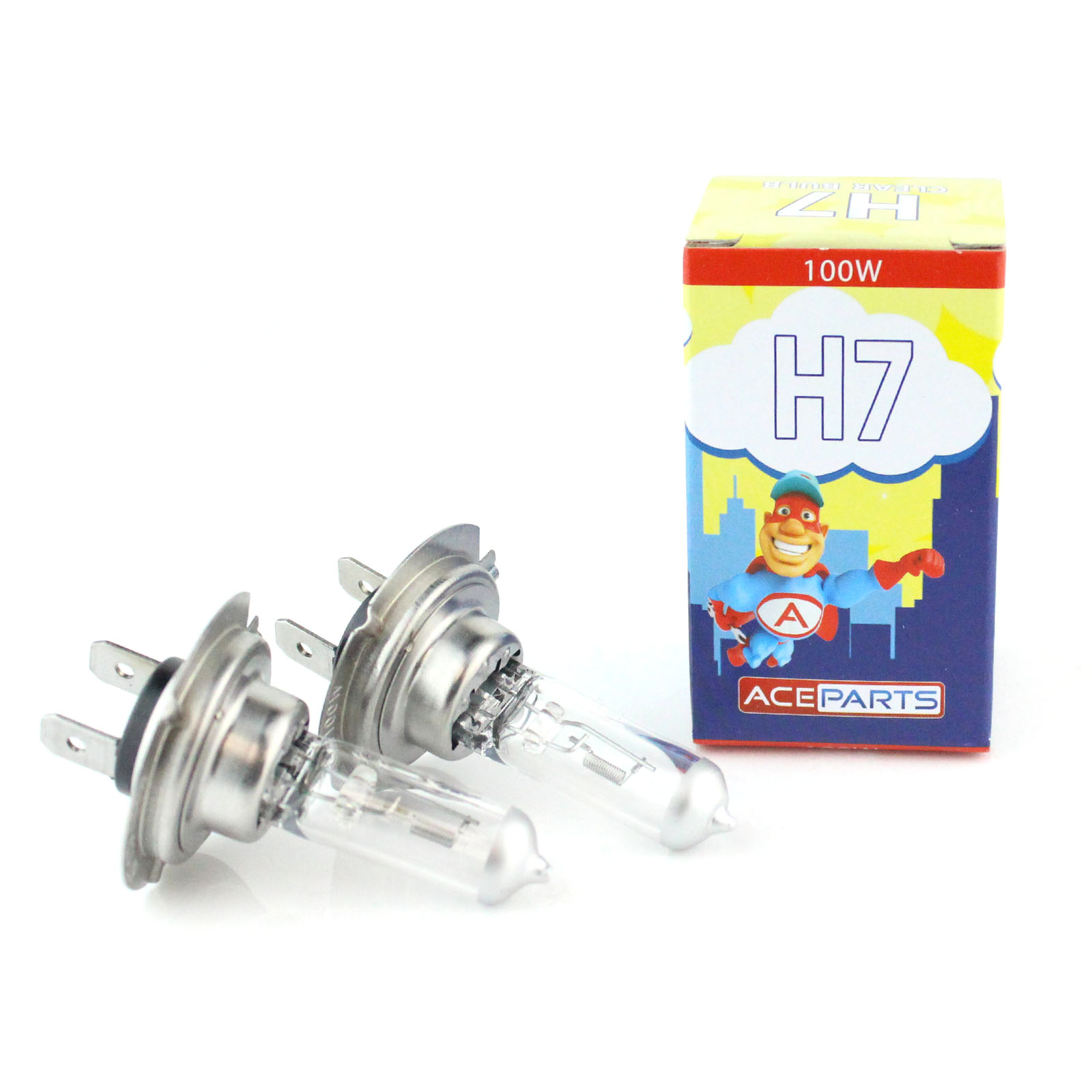 2x h7 499 100w clear xenon headlight bulbs 12v ebay. Black Bedroom Furniture Sets. Home Design Ideas