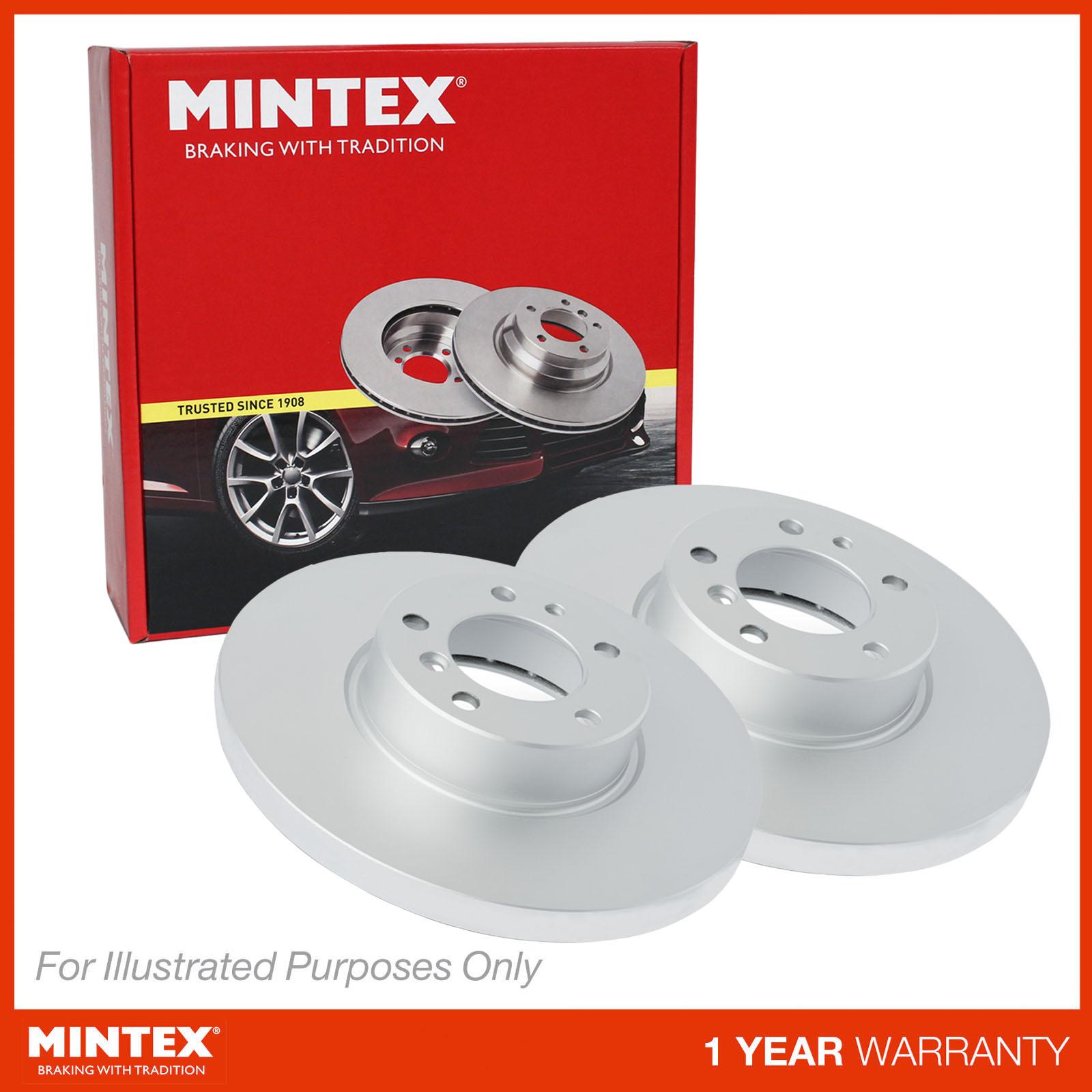 FITS FORD FOCUS MK3 1.5 TDCi ECOnetic Mintex Arrière Revêtement solide Disques de frein Set