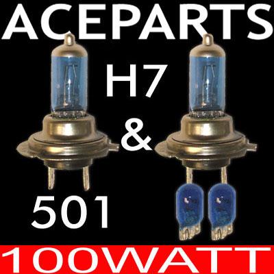 ford focus c max xenon headlight bulbs hid set h7 100w. Black Bedroom Furniture Sets. Home Design Ideas