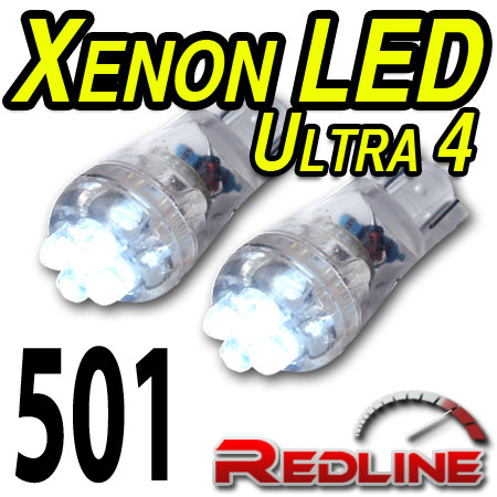 Ford Ultra QUAD Xenon White SideLight Parking LEDs Bulbs 501,W5W,T10