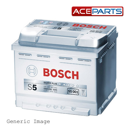 mini cooper bosch s5 39 silver 39 car battery type 075 genuine. Black Bedroom Furniture Sets. Home Design Ideas