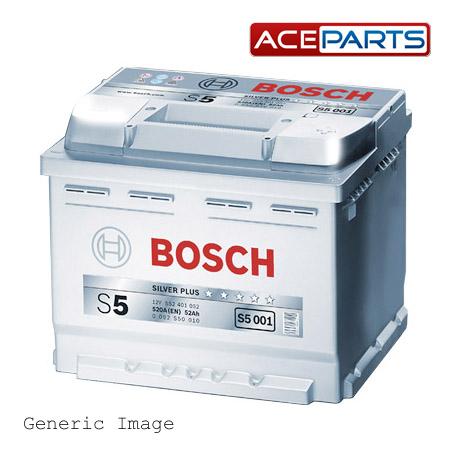 audi q7 bosch s5 39 silver 39 car battery type 020 genuine 12v. Black Bedroom Furniture Sets. Home Design Ideas