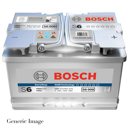 porsche cayenne 955 3 2 bosch s6 39 agm 39 car battery type 019 genuine 12v new ebay. Black Bedroom Furniture Sets. Home Design Ideas