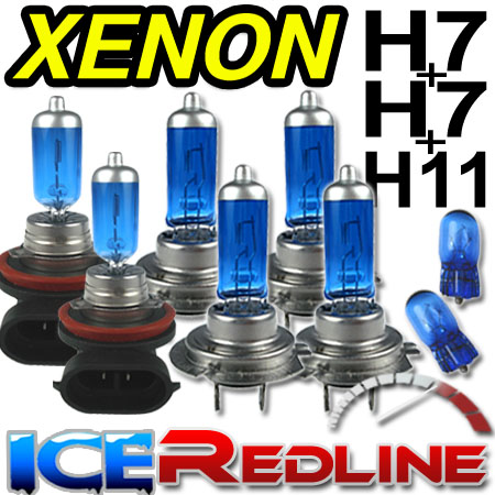 ICE BLUE Xenon Hi/Lo/Fog H7H7H11 BMW 3 Series Coupe E46