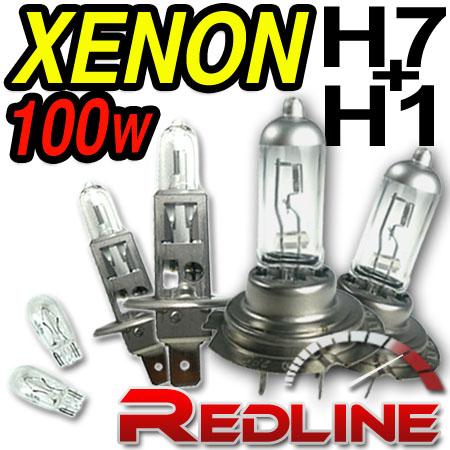 100W Clear HI/Lo Beam Bulbs H7/H1 FORD Fiesta Courier