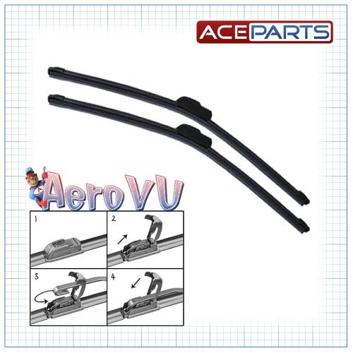 Aero VU Front Wiper Blades Genuine Window Windscreen Flat Upgrade Replacement