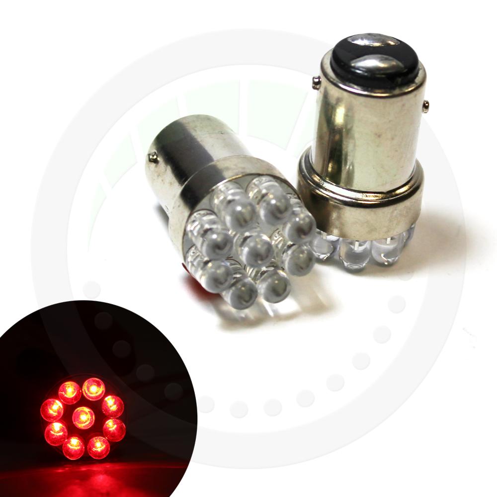 2x red 9 led bay15d 380 1157 p21 5w 12v stop brake light. Black Bedroom Furniture Sets. Home Design Ideas