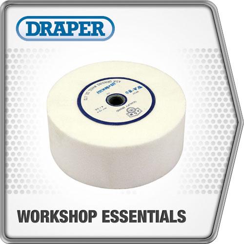 Draper 1x 125mmx12.7mm Bore Drystone Bench Grinder Wheel Professional Tool 38186