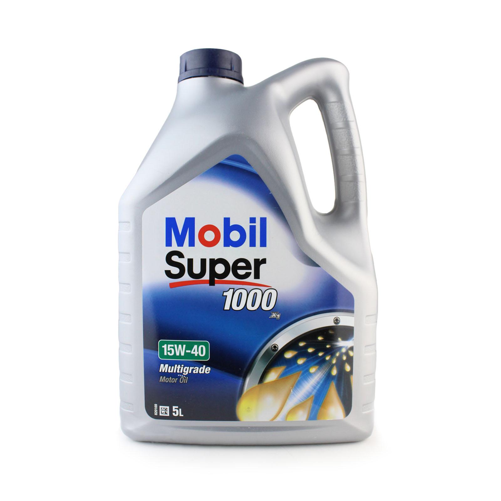 5 Litre Mobil Super 1000 X1 15w40 Mb 229 1 Multigrade