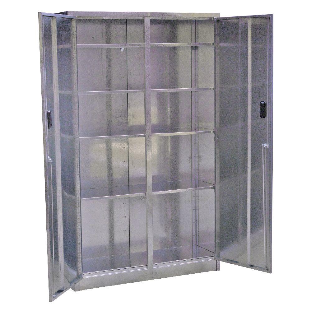 Sealey galvanized steel floor cabinet 5 shelf extra wide for Floor storage cabinet
