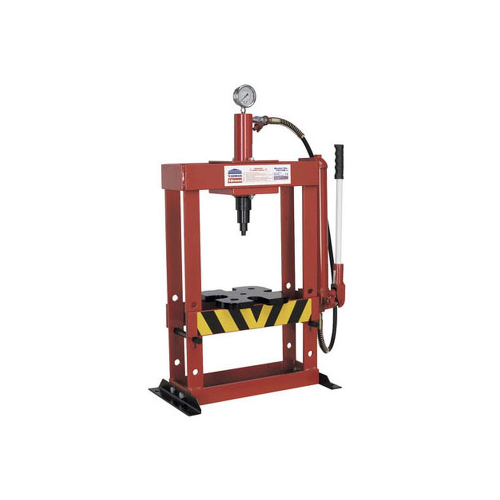 Sealey hydraulic press 10tonne bench type heavy duty workshop bench press yk10b ebay Hydraulic bench press