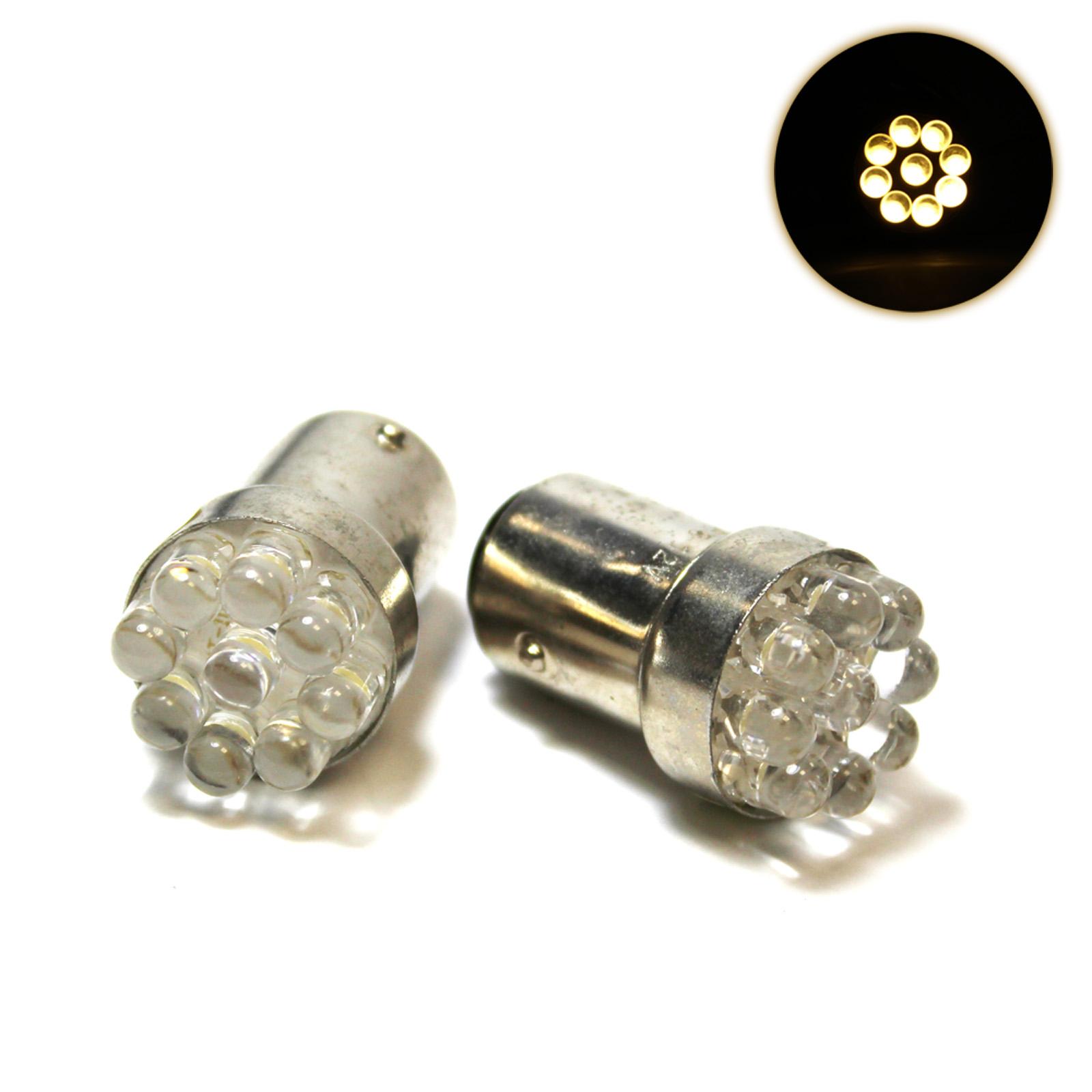 2x warm white 9 led bay15d 380 1157 p21 5w 12v light. Black Bedroom Furniture Sets. Home Design Ideas