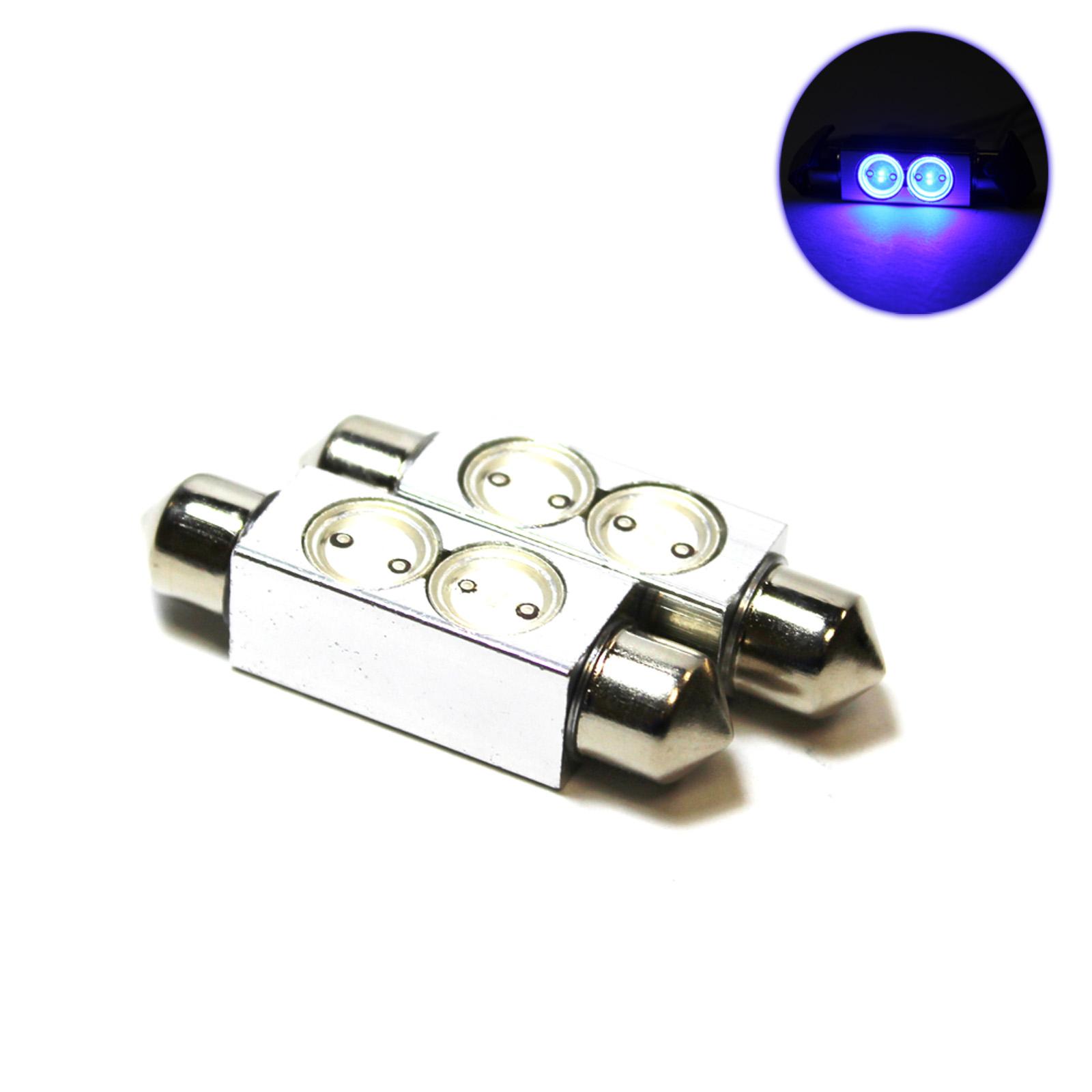 2x Blue Superlux Led Festoon 264 42mm 12v Interior Light Bulbs Ebay