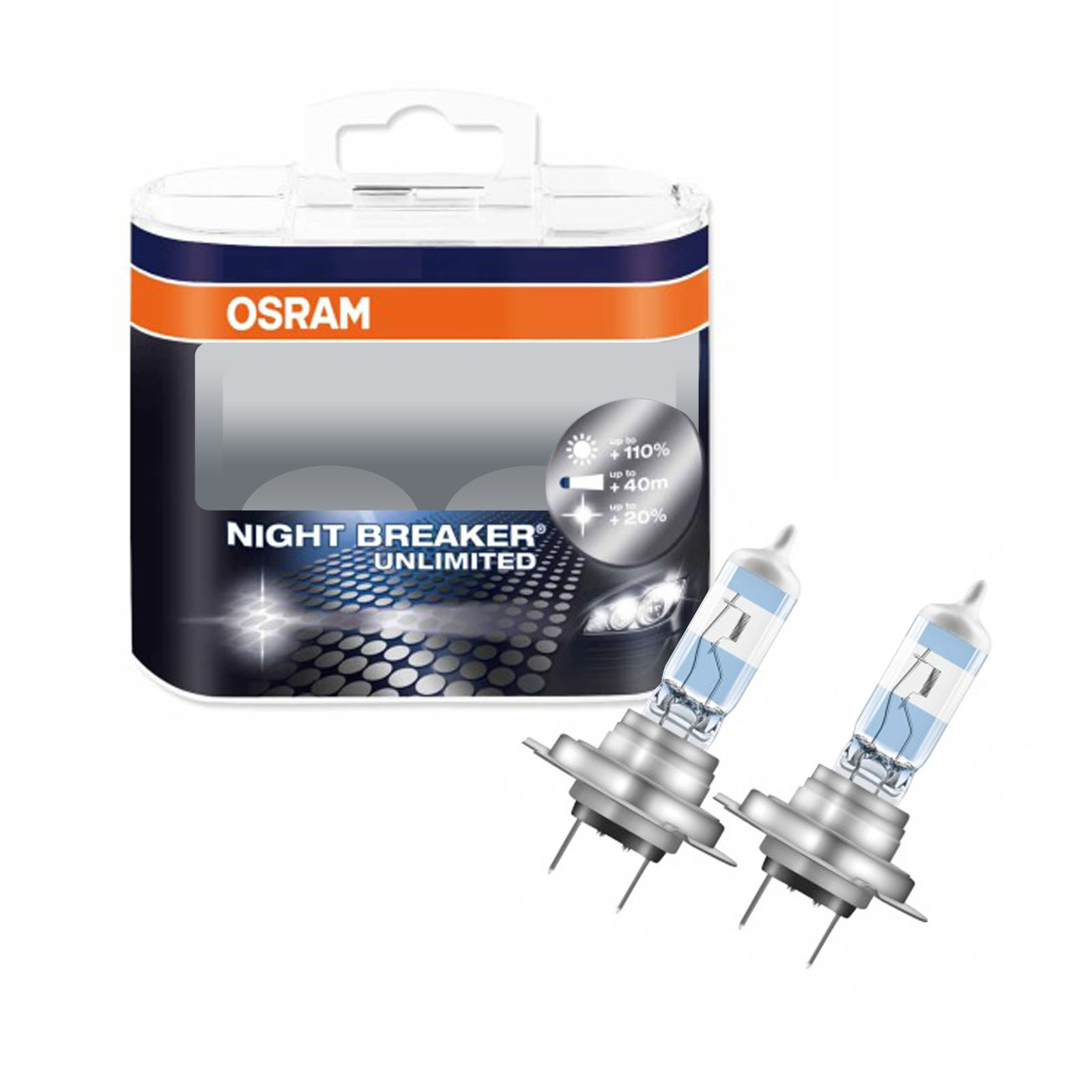 h7 osram night breaker unlimited high main full beam headlight bulbs ebay. Black Bedroom Furniture Sets. Home Design Ideas