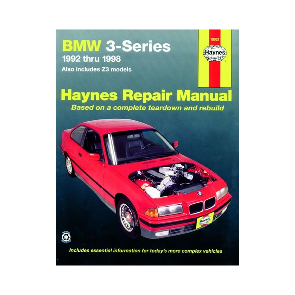 genuine haynes owners workshop service manual bmw 3 series including z3 92 9. Black Bedroom Furniture Sets. Home Design Ideas