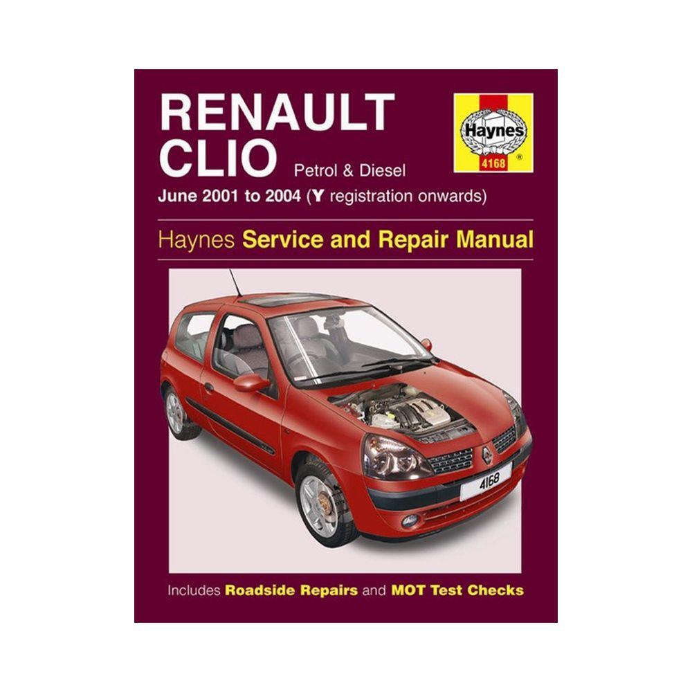 Genuine Haynes Workshop Manual Renault Clio Petrol border=