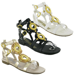 Y60-WOMENS-WHITE-ANKLE-STRAP-GLADIATOR-SANDALS-SIZE-3-8