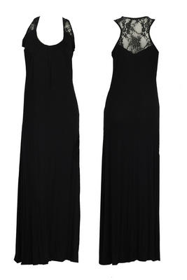 BNWT-WOMENS-LACE-MAXI-BLACK-SUMMER-DRESS-SIZE-12-14-NEW