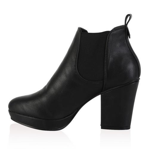 bottine chelsea pour femme avec plateforme talon carre chaussures taille 36 41 ebay. Black Bedroom Furniture Sets. Home Design Ideas