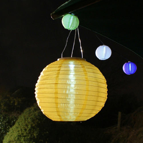 lights large solar power chinese lantern garden party hanging light