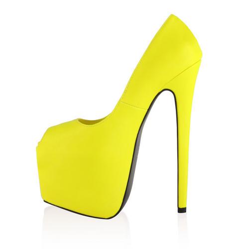 Ladies Peep Toe Womens Concealed Platform 7 Inch Stiletto Heel
