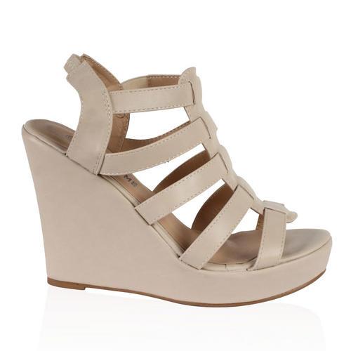 d96352a6 Beige Sandals: Sandalias De Tacon Talla 42