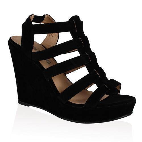 New Ladies Strappy High Heel Womens Platform Party Wedge Sandals ...