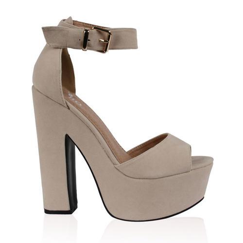 sandales femmes compens bout ouvert bride cheville talon haut taille 36 41 ebay. Black Bedroom Furniture Sets. Home Design Ideas