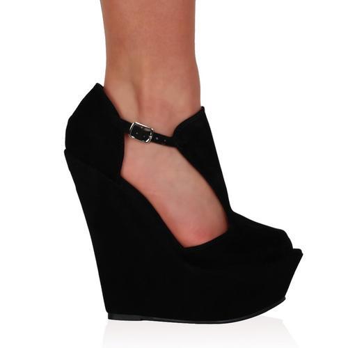 Chaussure A Talon Compensé Femme